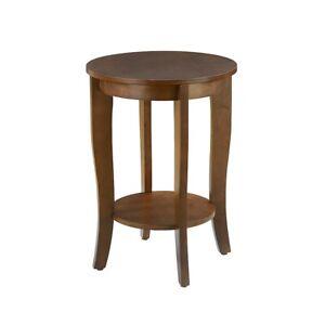 Convenience Concepts American Heritage Round End Table, Espresso - 7106259ES