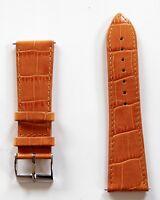 Neu hochwertiges Elysee Marken Uhrenband Uhrenarmband Leder orange 24mm E92