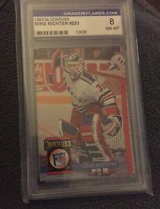 Donruss Leaf 1993 94 Mike Richter #223 Hockey Card NHL New York Rangers 8 NM-MT
