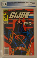 G.I. JOE: A REAL AMERICAN HERO #100 (1990) PGX 9.4 (NM) Like CGC White Newsstand