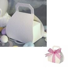 100 Wedding Favor Boxes White Purse Handbag Baby Shower Party Favour Gift Box