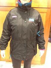 Womens Columbia 3-in-1 Jacket & Plush Liner Longs Peak Black Fuchsia Turq Sz M