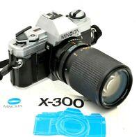 Minolta X-300 & Minolta 35-105mm Zoom LENS 35mm Film Camera  Student Starter