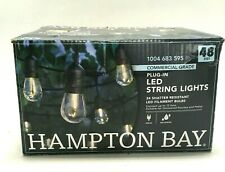 Hampton Bay LED Outdoor String Lights Plug In Shatter Resistant 48 Feet