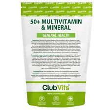 50+ A-Z Multivitamin & Mineral 365 Tablets General Health Daily Gold | ClubVits