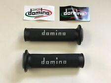 Universal Domino Black Grey XM2 Motorcycle Race Grips Track Bike Streetfighter