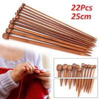 Bamboo Knitting Needles Set Carbonized Bamboo Knitting Needles Wooden Single UK