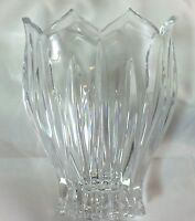 "Vintage (1990-1994) Discontinued Gorham ""Lotus"" Oval Crystal Vase 5.75"""