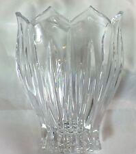 "Vintage (1990-1994) Discontinued Gorham ""Lotus"" Oval Crystal Vase 5.75"""