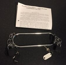 Stage Escapology Magic Trick Electronic Release Handcuffs