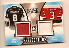 DREW DOUGHTY & STEVENS 2016-17 LEAF HEROES & PROSPECTS DUAL GAME USED JERSEY