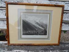 Ancienne gravure Montagne Savoie Chamonix Chamouny par Heisinger