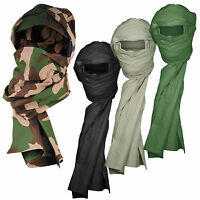 French Army Military CheChe Tactical Cotton Head Neck Scarf Scrim Shemagh Gaiter