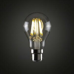 8W LED Filament Bulb Light Retro Style Edison B22 bayonet 2700K 6000K dimmable