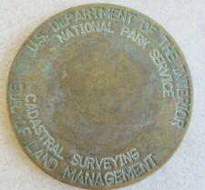 VINTAGE NATIONAL PARK SERVICE CADASTRAL SURVEY BENCH MARKER