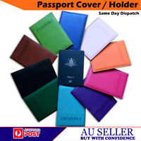 BRAND NEW PASSPORT COVER HOLDER PROTECTOR CASE WALLET ORGANIZER PU LEATHER - AU