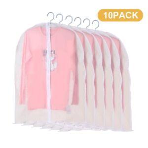 10x Kleidersack Kleiderhülle Schutzhülle Kleidersäcke Transparent 100*60CM