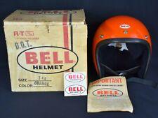 VTG ORIGINAL '76 BELL RT MAGNUM TOPTEX MOTORCYCLE CAR RACING ORANGE HELMET 7 1/8