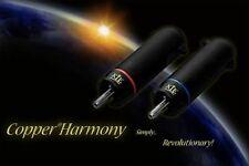 4 pièces Eichmann Klei Copper Harmony Plugs cuivre argenté prise RCA NEUF OVP