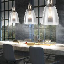3x Design Lampe Suspendue Bureau Verre Luminaire Plafond Éclairage