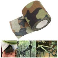 5m Outdoor Self-adhesive Non-woven Hiking Camping Hunting Camouflage Tape Camo!!