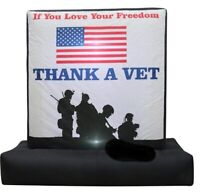 HALLOWEEN JULY 4TH PATRIOTIC MEMORIAL DAY VETERAN THANKS  INFLATABLE AIRBLOWN 6""