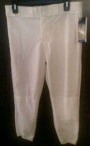 Reebok Boys Youth White Baseball Pants NWT Size XL