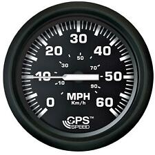 "Faria Beede 32816 Euro Black 4"" GPS Speedometer 60MPH 12V (Fits 3.375"" Hole)"