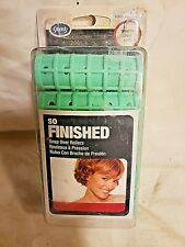 Vintage NOS 10 Goody Snap Over Rollers SO FINISHED Green Hair Curlers Smooth