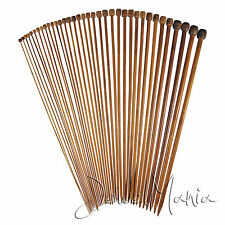 High Quality Set 36 Pcs Single Pointed Bamboo Knitting Needles 2mm to 10mm