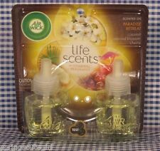 2 Refills Air Wick Life Scents PARADISE RETREAT Scented Oil Refills (1 Box)