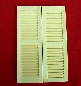 1 Paar Fensterläden, Puppenstube, Weihnachtskrippe, aus Holz, natur 11,7x3,8x0,4