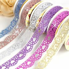 Self Adhesive Washi Stickers Sticky Paper Bling Roll Lace Tape