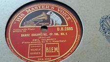EMIL TELMANYI DANSE CHAMPETRE OP 106 NO 1 & ROMANCE OP 78 NO 2 HMV DB2893