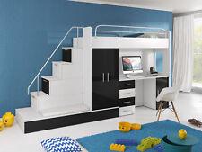 Jugendzimmer Bett Doppelstockbett Etagenbett Schreibtisch Kleiderschrank RAJ 5S