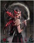 Beautiful Gothic Angel&Dragon Fantasy Art Canvas Print 10X12 Drawing Poster Wall