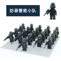 21pcs CUSTOM Army Soldier Police For Lego Minifigures For Kid Family 28 Styles