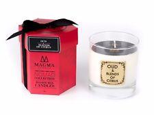 MAGMA Londra-Oud & miscele di agrumi-Grande candela profumata LUSSO-Deluxe Box