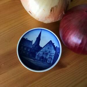 "Vintage 3"" Souvenir Plate Tonder Kirke Fajance Copenhagen Denmark"