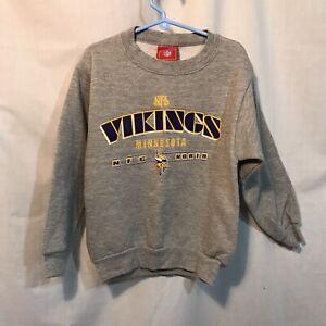 Minnesota Vikings Toddler Sweatshirt NFL Brand XS 5/6 Youth Kids New Gray Purple