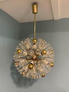 Emil Stejnar Deckenleuchte Lampe Pusteblume R. Nikoll Wien Mid Century Messing