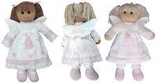 Personalised Wings Angel Fairy 40cm Rag Doll  Girls Birthday Bridesmaid Gift Toy