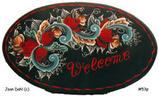 Welcome Sign InTelemark Rosemaling Packet by Joan Dahl Free Shipping, Stock #53P
