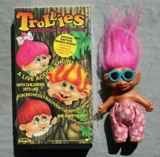 Vintage Troll doll + Trollies 1992 VHS tape Russ