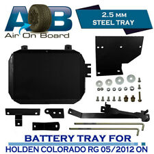 AOB DUAL BATTERY TRAY for Holden Colorado RG 05/2012~ON 2.8L Turbo Diesel Black
