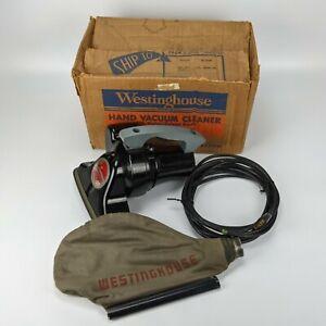 Westinghouse H-10 Hand Vacuum w/ Bag Box - NEEDS BELT vintage 120v 150w USA