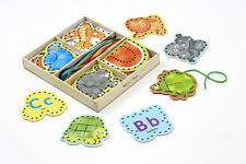 Let's String Together!  Melissa & Doug Alphabet Lacing Cards 9490