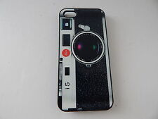 Camera style HardShell Case for iPhone SE & iPhone 5/5S Black