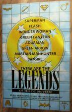 Legends of DC Universe 1997 Logos Wonder Woman Batman Superman PROMO Poster VF