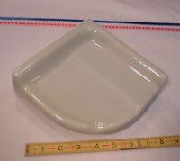 "Ceramic *Slate Gray* Reversible Corner Bath-Shower Soap Dish-Tray-Shelf 7"" NEW"